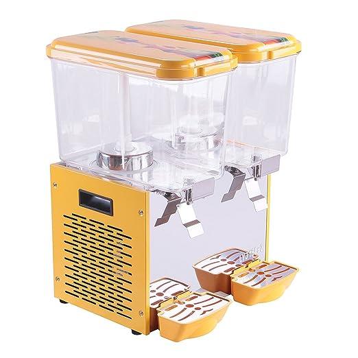 buoqua Zumo dispensador con grifo (2 tanque 9.5 gallonen dispensador de bebidas con grifo agua dispensador Juice Dispenser Zumos té helado dispensador ...