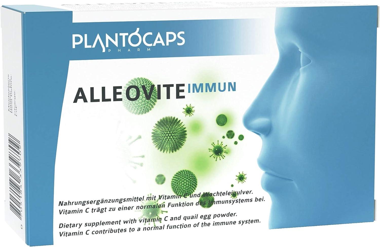 plantoCAPS® ALLEOVITE IMMUN | Bloqueador de alergias| Fiebre del heno | Alergia al polen, ácaros del polvo y pelos de animales