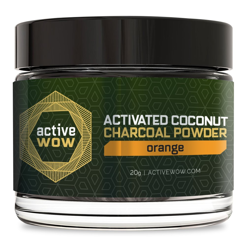 Active Wow Teeth Whitening Charcoal Powder Orange by Active Wow