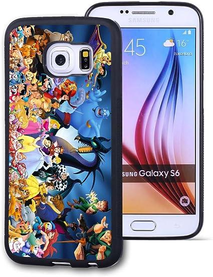 Samsung Galaxy S6 Case Funda Personalizada Disney Princess Negro Goma Suave Tpu Funda Para Samsung Galaxy S6 Disney Princess Galaxy S6 No Apropiado Para Galaxy S6 Edge 3