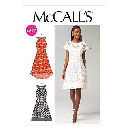 a41b95ff4af Image Unavailable. Image not available for. Color  McCall Pattern Company  M6883 Misses  Dresses and Slip Sewing Template ...