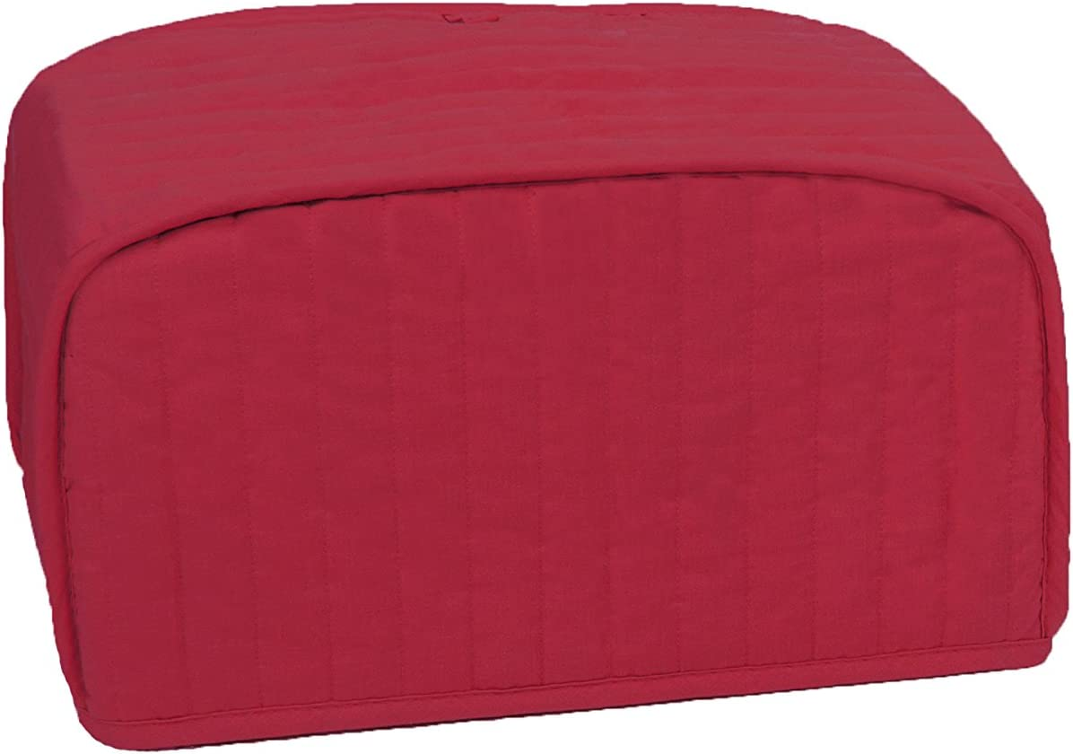 RITZ Polyester / Cotton Quilted Toaster Oven Broiler Appliance Cover, Dust and Fingerprint Protection, Machine Washable, Paprika Red