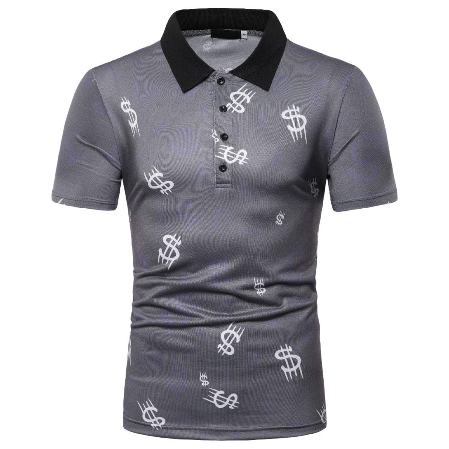 Fashion Casual Mens Polo Summer Short Sleeve Breathable Shirt Male Clothing Breathable Tees