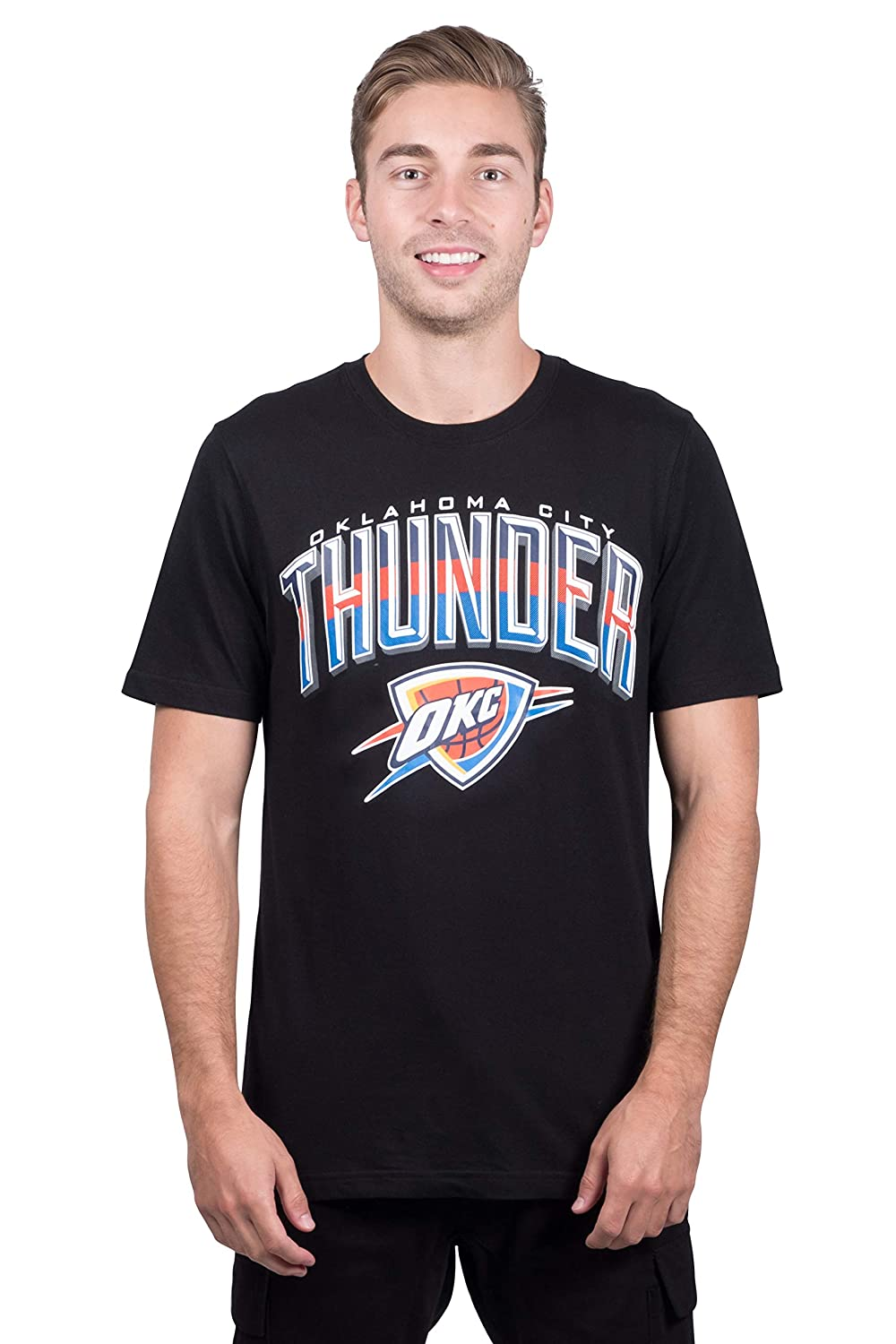 (Oklahoma City Thunder, XX-Large) - NBA Men's T-Shirt Arched Plexi Short Sleeve Tee Shirt, Team Logo Black   B01LZBS0DK