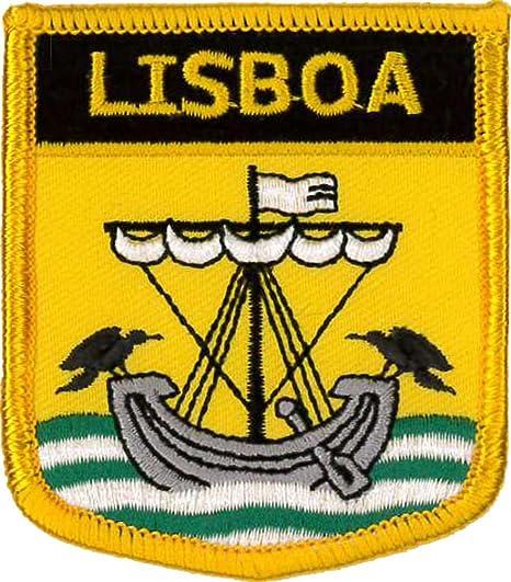 Escudo bordado de Lisboa (Ciudad de) Parche de 7cm x 6cm: Amazon.es: Ropa y accesorios