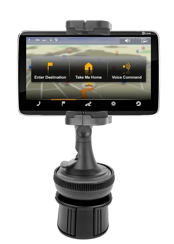 DURAGADGET Soporte Abrazadera Regulable Para GPS Navigon 92 Premium Live Con Portavasos Giratorio A Prueba de Movimientos: Amazon.es: Electrónica