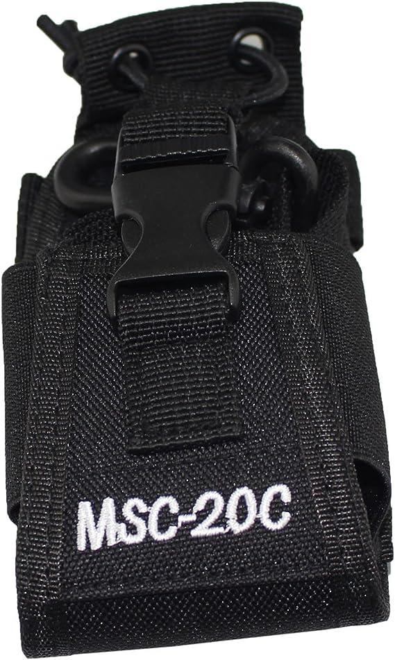 USA MSC-20A For Motorola Kenwood Walkie Talkie Holder Pouch Case Bag 2 Way Radio