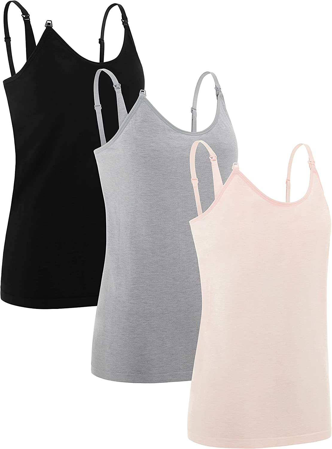 Under Control Women's Maternity Nursing Tops & Tees Tank Top Camisole (3 Pack) at  Women's Clothing store