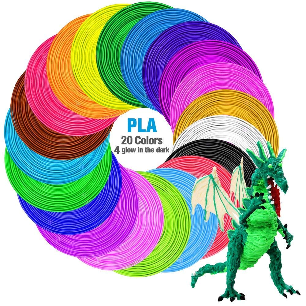3D Printing Pen, Tecboss Intelligent 3D Pen with 2 Pack PLA Refilaments, Compatible with PLA & ABS, LCD Display Perfect Arts Crafts Gift for Kids & Adults