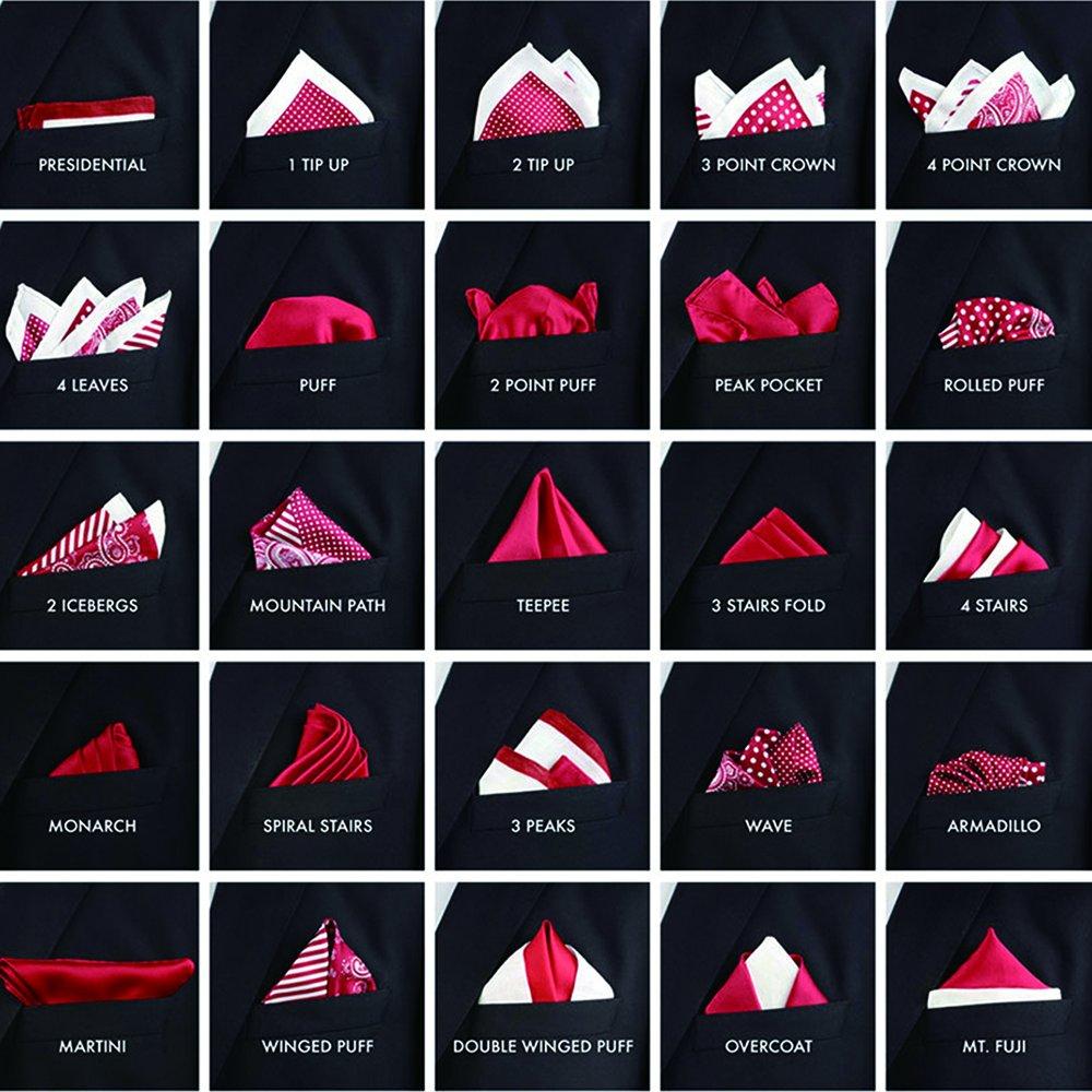 BettiCharm Slim Pocket Square Holders, Men's Suit Handkerchiefs Keeper/Organizer (5 Pack) by BettiCharm (Image #7)