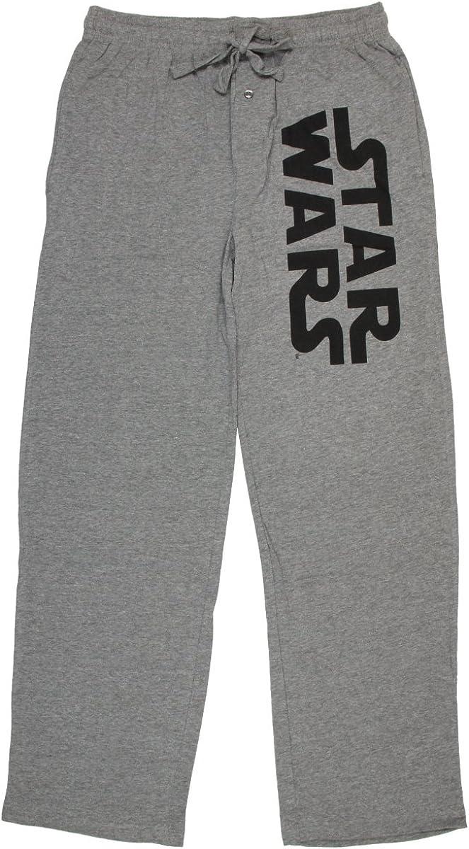 Star Wars Logo Heather Sleep Pants (Dark Grey, XX-Large)