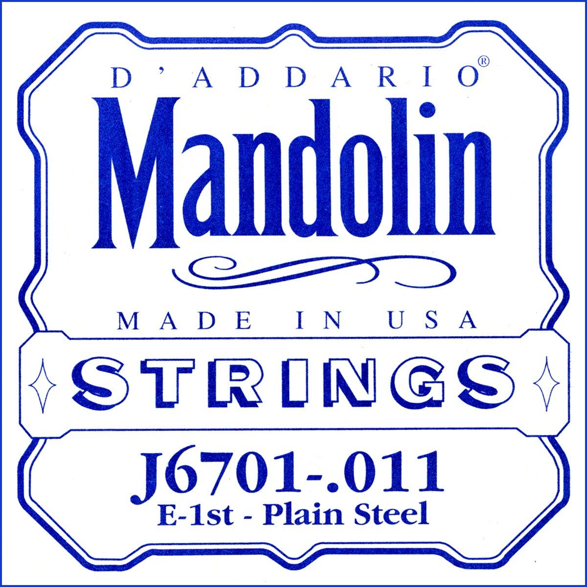 D'Addario J6701 Nickel Mandolin Single String, .011 D'Addario