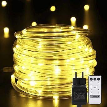 Weihnachtsbeleuchtung Für Balkongeländer.Lichterkette Außen B Right 200 Led Lichtschlauch Warmweiß Lichterkette Strombetrieben Lichterkette Mit Fernbedienung Weihnachtsbeleuchtung Für