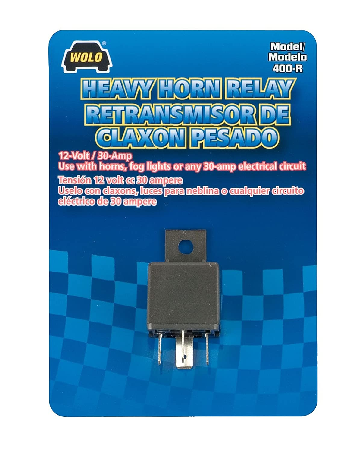 Amazon.com: Wolo 400-R Heavy-Duty Horn Relay (12 Volt): Automotive