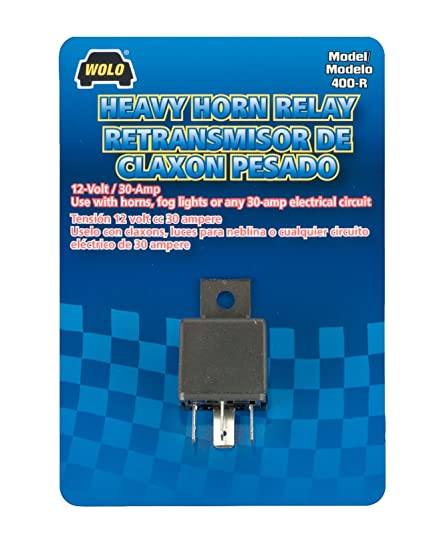 amazon com wolo 400 r heavy duty horn relay 12 volt automotive rh amazon com