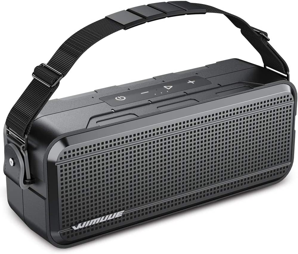 Bluetooth Speakers, WIMUUE 40W Loud Wireless Portable Speaker Built-in 8000mAh Power Bank, IPX6 Waterproof, TWS, TF Card, Equalizer, Bluetooth V5.0, Indoor & Outdoor