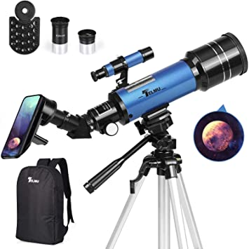 Amazon.com : TELMU Telescope, 70mm Aperture 400mm AZ Mount