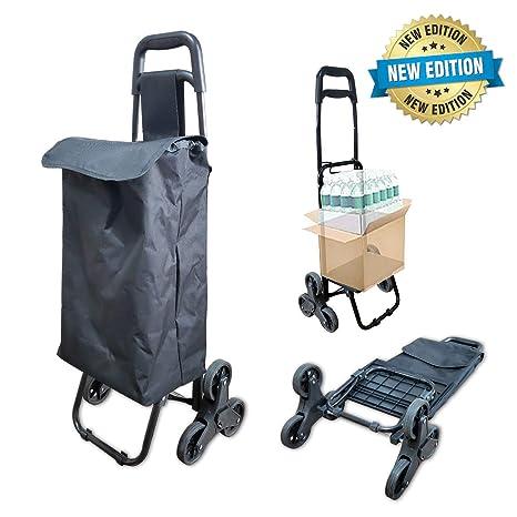 Carrito de compras plegable 6 ruedas | Carro de la compra con thi-rueda |