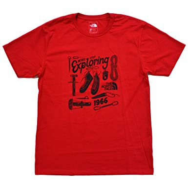 39e08b835 The North Face Mens Never Stop Exploring Graphic T-Shirt (Medium, TNF Red