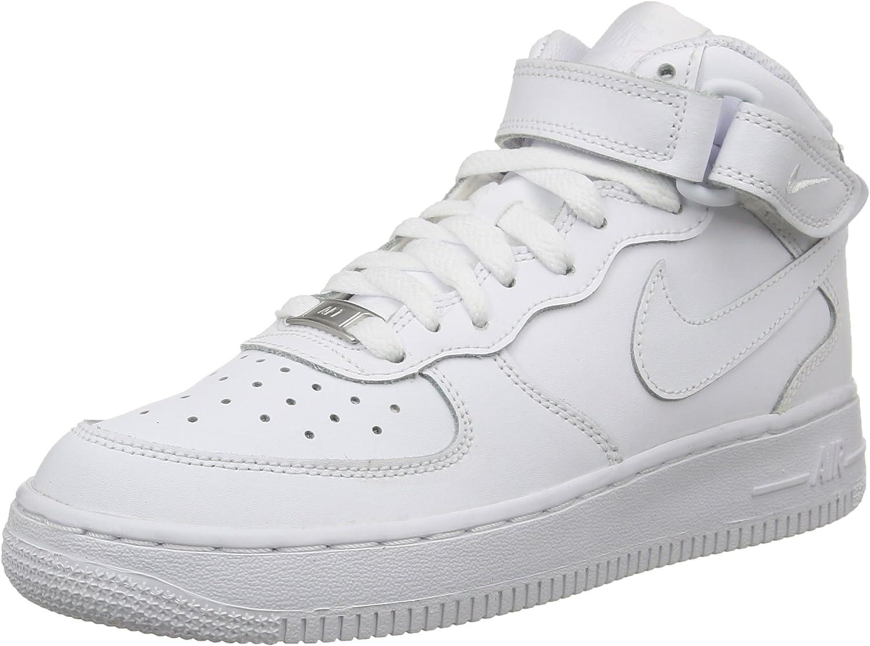 Nike Air Force 1 Mid (GS), Zapatillas de Baloncesto para Niños