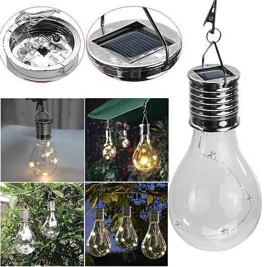 Bombilla IGEMY alimentada por energía solar impermeable y colgante con estrellas de led para uso en