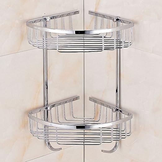 Estante de ducha esquinero de baño, tres esquinas cesta ...