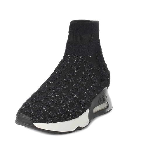 Ash Footwear Lullaby Zapatillas Color Negro y Plateado de Mujer 38 Negro/Plateado: Amazon.es: Zapatos y complementos