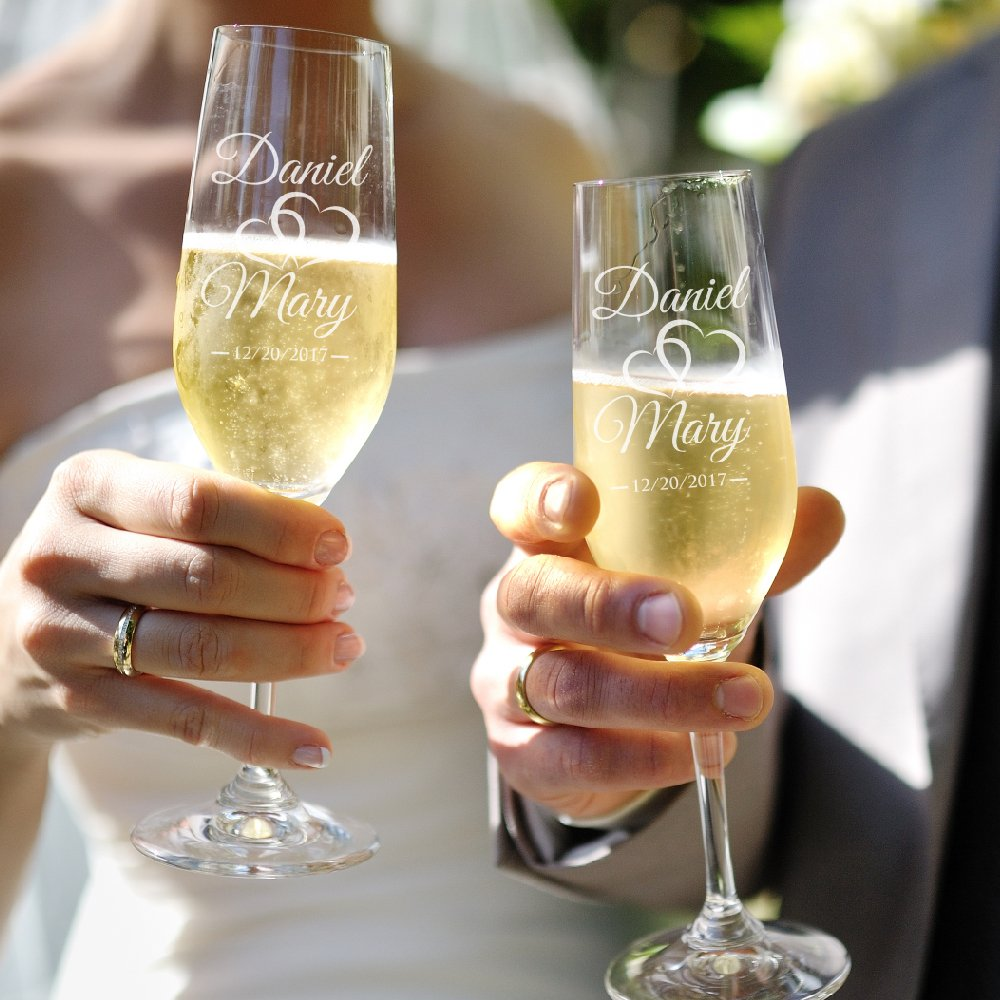 Create Your Own Unique Wedding Champagne Flutes as a Keepsake