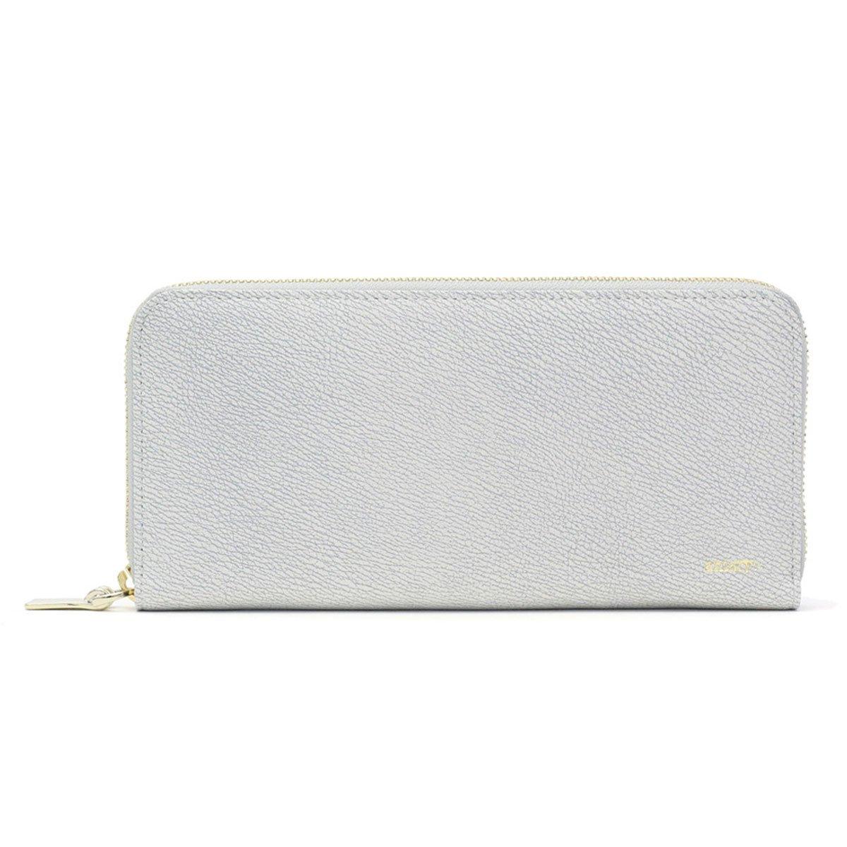 [アニアリ] 長財布 グラインドレザー 15-20003 B072J3NCB9 ホワイト ホワイト