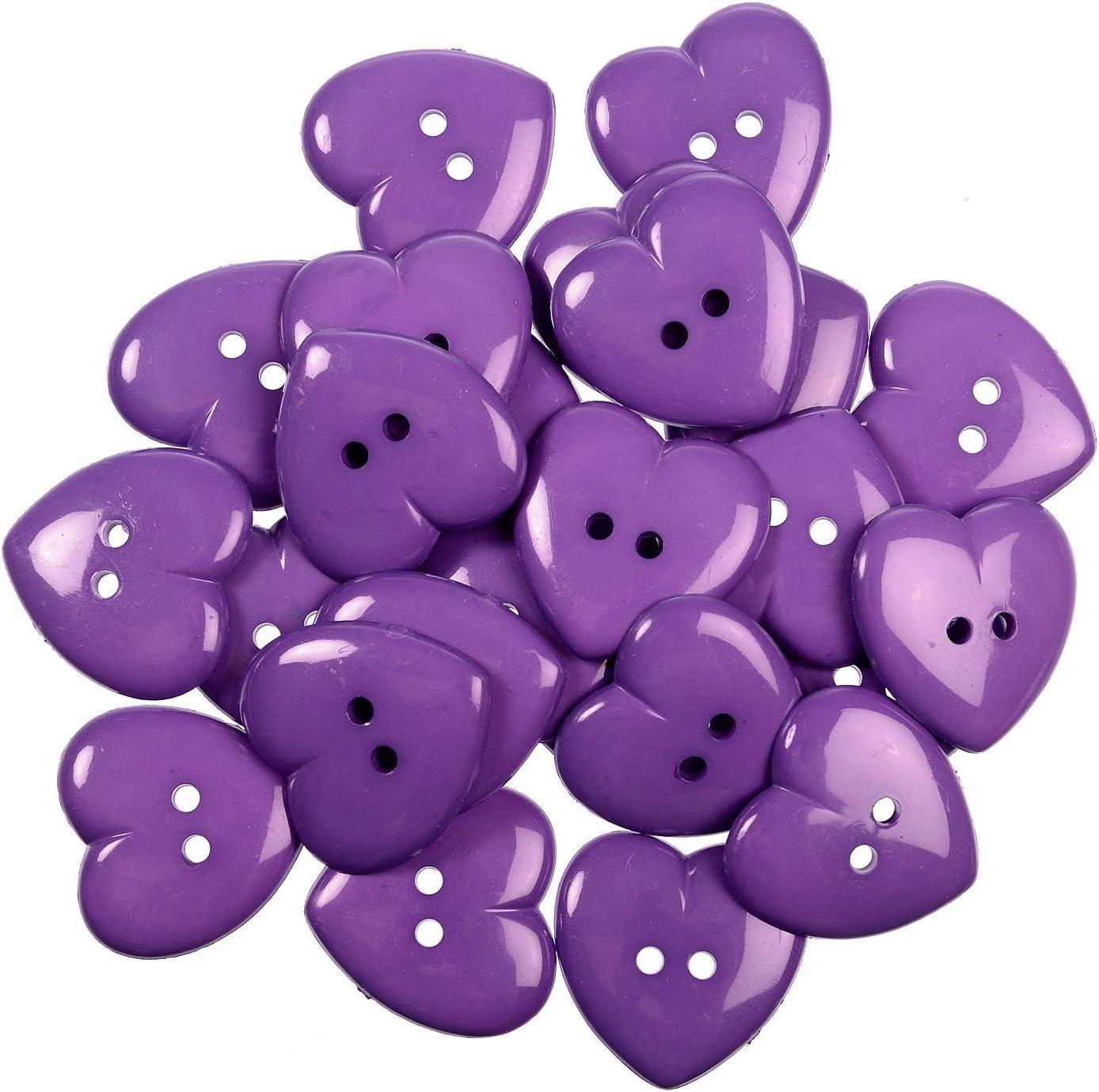 niños botones corazón 30 botones rojo