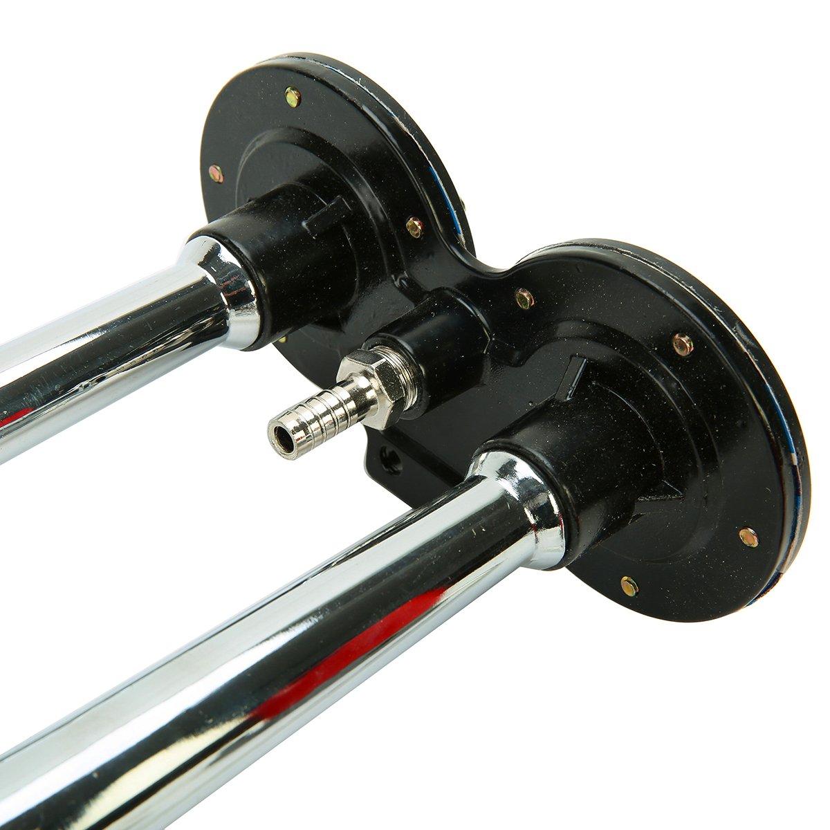 8MILELAKE 150DB 12V Loud Air Horn Dual Trumpet Twin Tone Sound