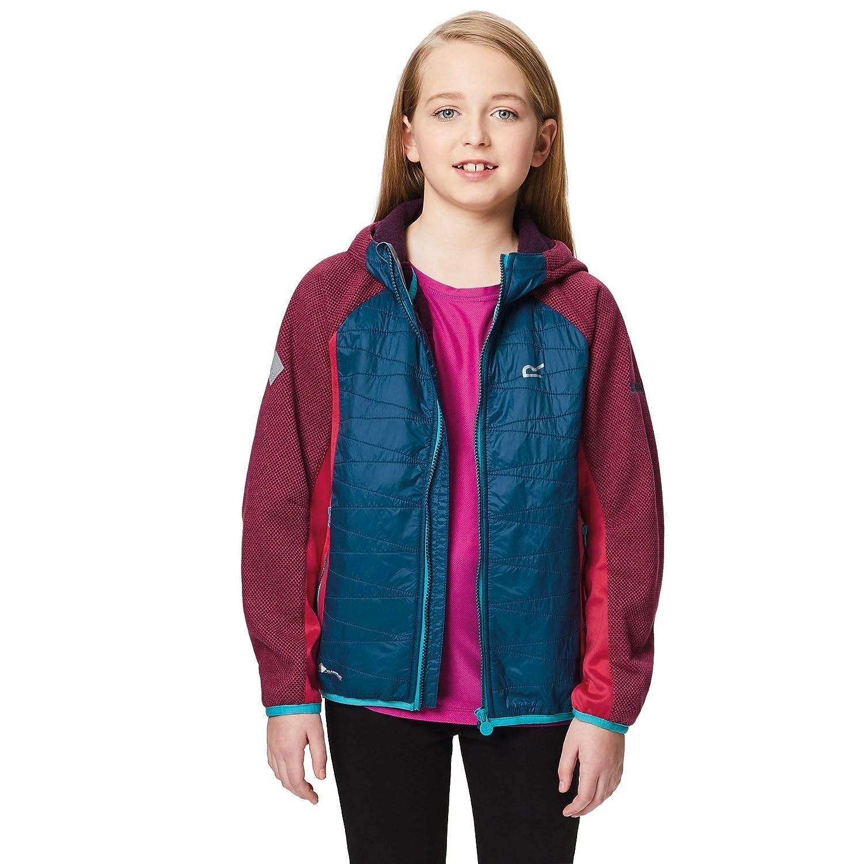 Regatta pour Enfant Excelsis Stretch Bicolore Hydrofuge Polaire à Capuche RKA247