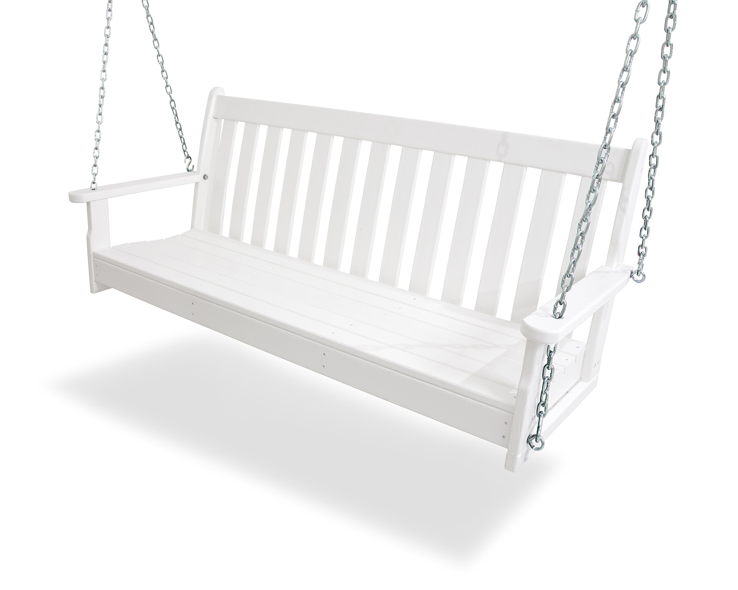 POLYWOOD GNS60WH Vineyard 60'' Swing, White