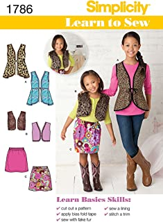 product image for Simplicity 1786: Learn to Sew Child's and Girls' Sportswear Sewing Pattern, Size K5 (7-8-10-12-14)