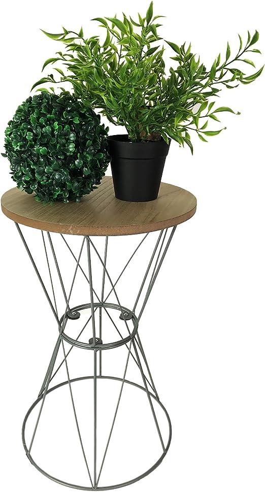 Mesa auxiliar con tablero de madera bandeja mesa mesa decorativa ...