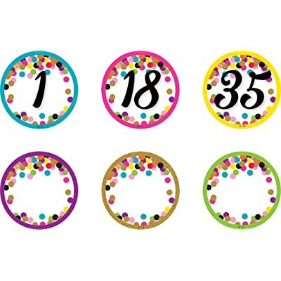 Confetti Numbers Magnetic Accents: Office Products