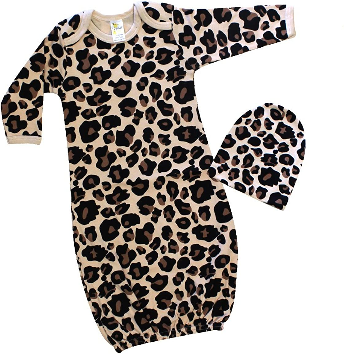 Toodler Infant Kids Baby Girls Boys Giraffe Pajamas Gown+Hat Outfits Clothes Set