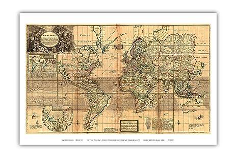 Amazon.com: The Whole World Map - Britain\'s Possessions in North ...
