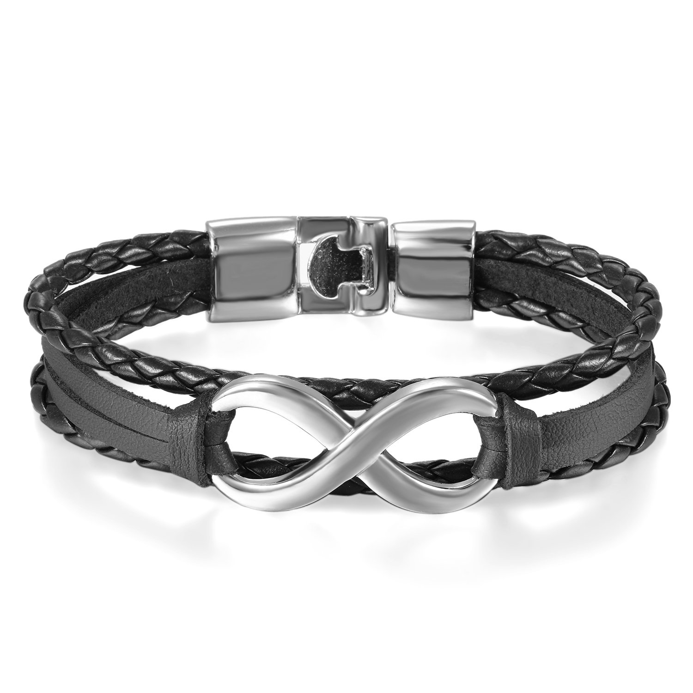 7755085d8276 JewelryWe Joyería Pulsera Infinito Infinity Pulseras para Parejas  Enamorados Hombre Mujer