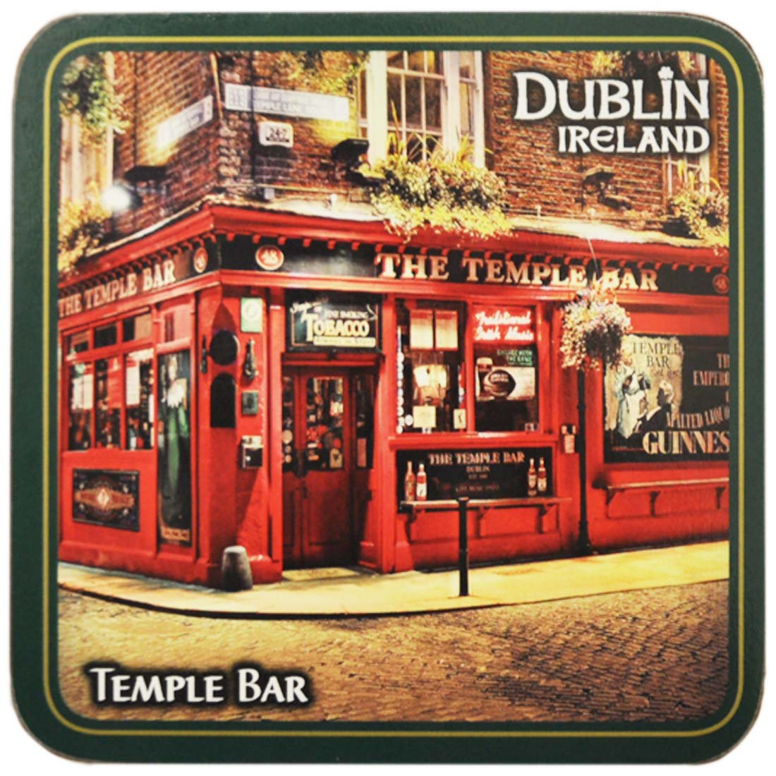 Ireland Coaster Of The Famous Temple Bar Dublin, Renowned For Its Whiskey