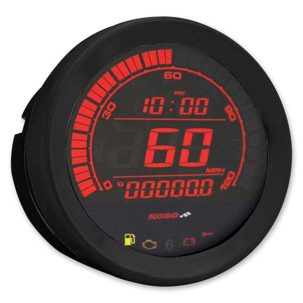 Black Bezel,Hd-02S Harley-Davidson 4 Koso BA051010 Speedometer