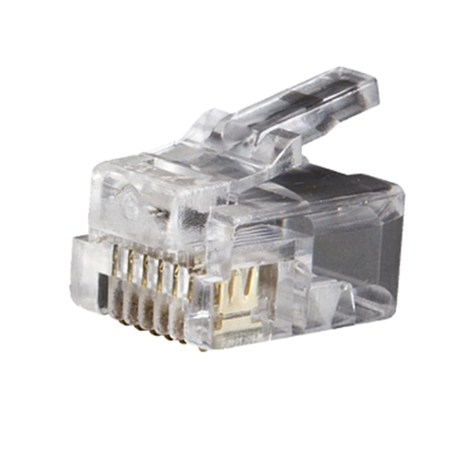 Telephone Plug RJ11 6P4C 25-Pack Klein Tools VDV826-601 - Crimpers - Amazon.com
