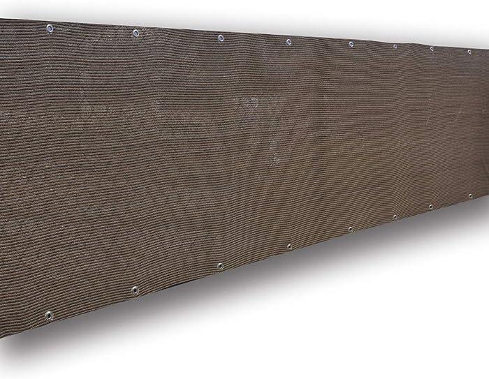 Alion Home Elegant Privacy Screen Fence Mesh Windscreen for Backyard Deck Patio Balcony Pool Porch Railing 3 FT Height-Brown/Mocha (3' X 12')