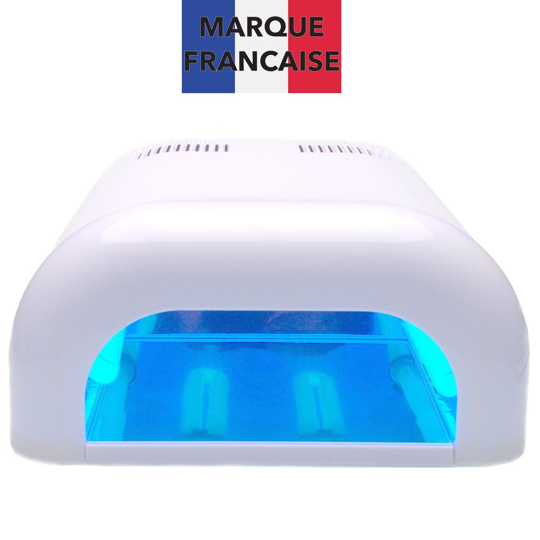 TAKIT Lampada Uv Per Unghie Professionale A 36 Watt - Lampada Per Unghie Per Shellac E Gel Con Timer + 4 X Lampadine Da 9w Incluse, Con Vassoio Scorrevole E Impostazione Timer, Bianco UV36