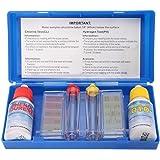 Tamar - Test Kit Cloro y pH, medidor del cloro y pH del agua de la piscina, Gotas.