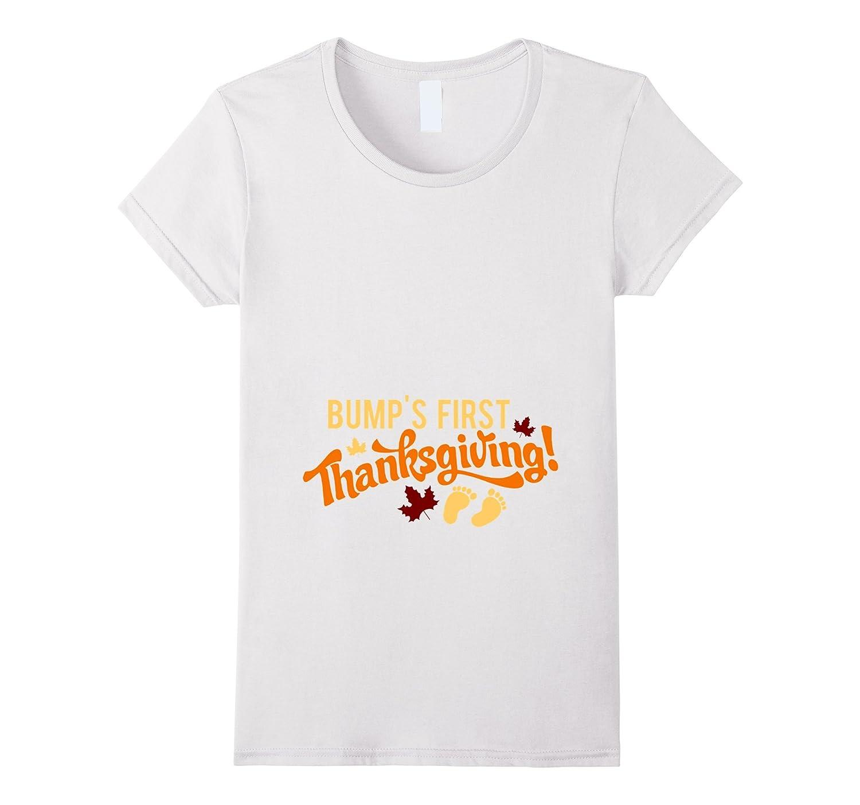 Bump's First Thanksgiving T-Shirt Pregnant Maternity Mom