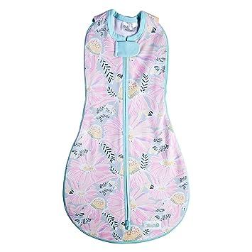 Woombie Grow With Me Swaddle - Saco de dormir para recién nacido de 5 etapas a 18 meses de 0 a 18 meses, diseño de flores silvestres: Amazon.es: Bebé