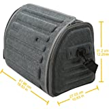 NEW ARRIVAL- CAR PASS Universal Waterproof Durable Collapsible Cargo Storage ,Foldable Car Trunk Organizers,Great for Car,SUV,Truck,Jeep,Minivan,Home (Dark Gray)