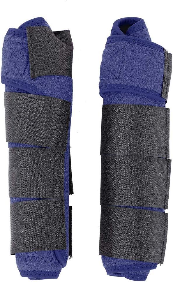 LZKW Bota de Pierna de Caballo, Abrigo de Bota de Caballo Transpirable, cómodo Ajustable 5 Colores de Tela Suave Pata de Caballo para Caballo