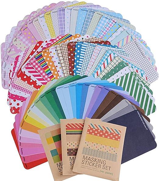 Pack 81 hojas) Etiquetas Adhesivas Pegatina Papel Scrapbooking ...